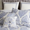Online Designer Bedroom Reese Blue Full/Queen Duvet Cover