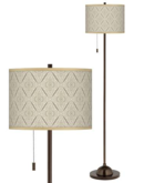 Online Designer Home/Small Office Moroccan Diamonds Giclee Glow Bronze Club Floor Lamp