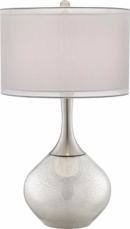 Online Designer Hallway/Entry Possini Euro Design Swift Modern Mercury Glass Table Lamp