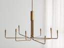 Online Designer Combined Living/Dining Clive 8-Arm Brass Chandelier