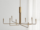 Online Designer Combined Living/Dining Clive 8-Arm Brass Chandelier