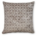 Online Designer Combined Living/Dining Buckle 22x22 Velvet Pillow, Brown