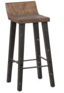 Online Designer Combined Living/Dining The Gray Barn Gold Creek Natural Low-back Wood Counter Stool
