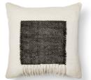 Online Designer Living Room Square Fringe Pillow - Black - Threshold™