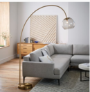 Online Designer Living Room Shade Foor Lamp  Brass