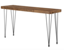 Online Designer Living Room Pine and Iron, Industrial Style Table