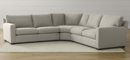 Online Designer Combined Living/Dining Axis II 3-Piece Sectional Sofa