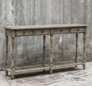 Online Designer Combined Living/Dining Console Table, Driftwood Finish