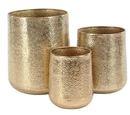 Online Designer Patio Modern Round 3-Piece Pot Planter Set