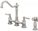 Online Designer Kitchen Double Handle Kitchen Faucet with Side Spray