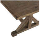 Online Designer Living Room Paloma Rustic Reclaimed Wood Rectangular Trestle Farm Table