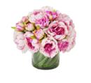 Online Designer Hallway/Entry Faux Magenta & Pink Peony Floral Arrangement