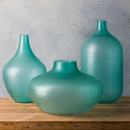 Online Designer Combined Living/Dining Aqua Glass Vase