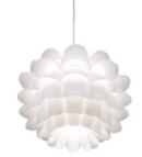 Online Designer Living Room Possini Euro White Flower 19 1/2