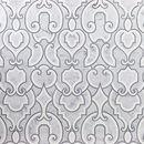 Online Designer Bathroom Palmette White Polished Marble Tile