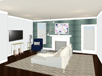 Online design Glamorous Living Room by Sarah B. thumbnail