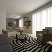 Online design Transitional Combined Living/Dining by Serena Z.  thumbnail