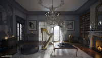 Online design Traditional Living Room by Fares N. thumbnail