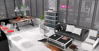 Online design Contemporary Combined Living/Dining by Ha H. thumbnail