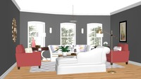 Online design Traditional Living Room by Silvia K. thumbnail