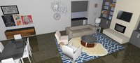 Online design Combined Living/Dining by Peggy R. thumbnail