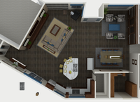 Online design Contemporary Combined Living/Dining by Ellen B. thumbnail