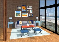 Online design Transitional Living Room by Leah C. thumbnail