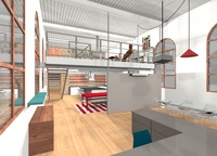 Online design Modern Combined Living/Dining by Leah C. thumbnail
