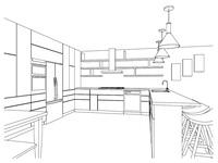 Online design Modern Kitchen by Leah C. thumbnail