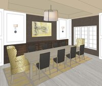 Online design Transitional Dining Room by Lisa P. thumbnail