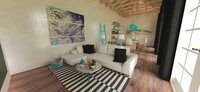 Online design Transitional Combined Living/Dining by Dawn Henderson  thumbnail