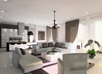 Online design Glamorous Combined Living/Dining by Noraina Aina M. thumbnail