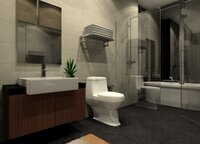 Online design Contemporary Bathroom by Noraina Aina M. thumbnail