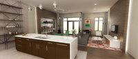 Online design Modern Combined Living/Dining by Kerry Z. thumbnail