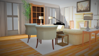 Online design Transitional Combined Living/Dining by Edwin G. thumbnail