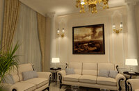 Online design Traditional Living Room by Nour M. thumbnail