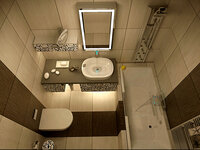 Online design Modern Bathroom by Nour M. thumbnail
