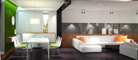 Online design Contemporary Combined Living/Dining by Raul N. thumbnail