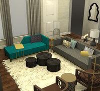 Online design Glamorous Living Room by Tabitha M thumbnail