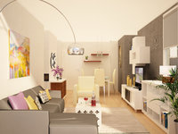 Online design Modern Living Room by Christine M. thumbnail