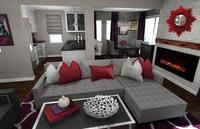 Online design Contemporary Combined Living/Dining by Rachel H. thumbnail
