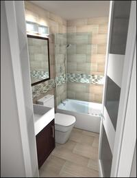 Online design Modern Bathroom by Rachel H. thumbnail