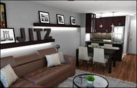 Online design Modern Combined Living/Dining by Rachel H. thumbnail