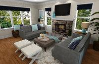 Online design Transitional Living Room by Rachel H. thumbnail