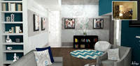 Online design Modern Living Room by Janet Y thumbnail