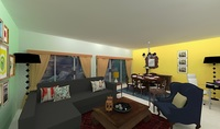 Online design Eclectic Combined Living/Dining by Shivani D thumbnail