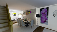 Online design Modern Combined Living/Dining by Shivani D thumbnail