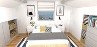 Online design Eclectic Bedroom by Laura A. thumbnail