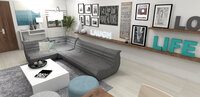 Online design Contemporary Living Room by Laura A. thumbnail