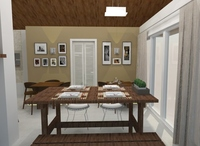 Online design Combined Living/Dining by Jéssica D. thumbnail